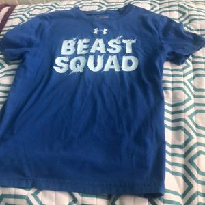 Boys beast squad shirt.
